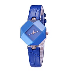 voordelige Dameshorloges-Dames Modieus horloge Polshorloge Chinees Kwarts / PU Band Amulet Informeel Elegant Zwart Wit Blauw Rood Paars
