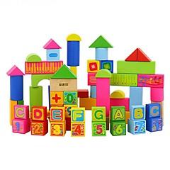 DHZ-kit Bouwblokken Educatief speelgoed Speeltjes Rechthoekig 66 Stuks Jongens Meisjes Geschenk