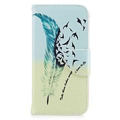 Недорогие Кейсы для iPhone X-Кейс для Назначение Apple iPhone X iPhone 8 Бумажник для карт Кошелек со стендом Чехол  Перья Твердый Кожа PU для iPhone X iPhone 8 Pluss