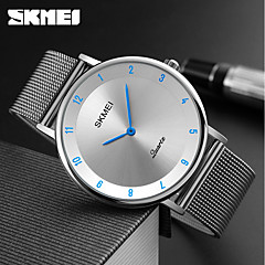 cheap Watch Deals-SKMEI Men's Quartz Wrist Watch Water Resistant / Water Proof Stainless Steel Band Charm Luxury Casual Dress Watch Fashion Cool Silver
