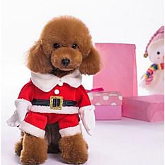 お買い得  犬用品-犬 コスチューム ジャンプスーツ 犬用ウェア クリスマス カラーブロック レッド コスチューム ペット用