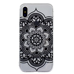 Til iPhone X iPhone 8 Plus Etuier IMD Mønster Bagcover Etui Mandala-mønster Blonde Tryk Blødt TPU for Apple iPhone X iPhone 8 Plus iPhone