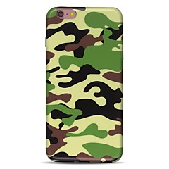 Назначение iPhone 7 iPhone 7 Plus Чехлы панели Ультратонкий С узором Задняя крышка Кейс для Камуфляж Мягкий Термопластик для Apple iPhone
