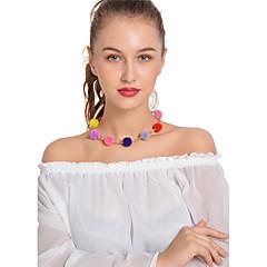 Mujer Gargantillas Collares de cadena Strands Collares Bola Legierung Sexy Moda estilo de Bohemia Hecho a mano Joyas Para Casual Calle