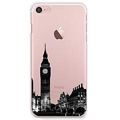 Na iPhone 7 iPhone 7 Plus Etui Pokrowce Ultra cienkie Przezroczyste Wzór Etui na tył Kılıf Widok miasta Miękkie Poliuretan termoplastyczny