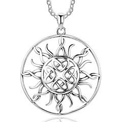 Naisten Riipus-kaulakorut Sunflower-valoefekti Sterling-hopea Personoitu Korut Käyttötarkoitus Syntymäpäivä