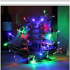 abordables Luces Decorativas para Celebración-2m Cuerdas de Luces 20 LED Blanco Cálido / RGB / Blanco Batería / IP65