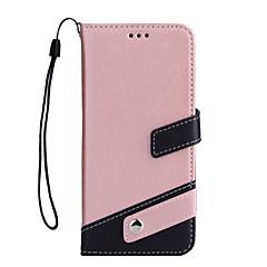 Недорогие Кейсы для iPhone-Кейс для Назначение Apple iPhone X iPhone 8 Бумажник для карт Кошелек со стендом Флип Чехол Сплошной цвет Твердый Кожа PU для iPhone X