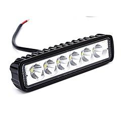 Недорогие Фары для мотоциклов-Автомобиль / Мотоцикл / Грузовик Лампы 18W Высокомощный LED 1800lm 6 Рабочее освещение For Универсальный Все модели Все года