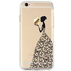 tanie Etui do iPhone 4s / 4-Na iPhone 7 iPhone 7 Plus Etui Pokrowce Ultra cienkie Przezroczyste Wzór Etui na tył Kılıf Seksowna dziewczyna Rysunek Miękkie Poliuretan