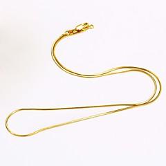 Ανδρικά Γυναικεία Κολιέ με Αλυσίδα Round Shape Φίδι Επιχρυσωμένο DIY μινιμαλιστικό στυλ Κοσμήματα Για Καθημερινά Causal