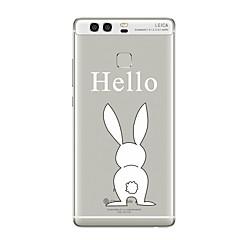 tok Για Huawei P9 P10 Διαφανής Με σχέδια Πίσω Κάλυμμα Διάφανη Ζώο Κινούμενα σχέδια Μαλακή TPU για Huawei P10 Plus Huawei P10 Lite Huawei