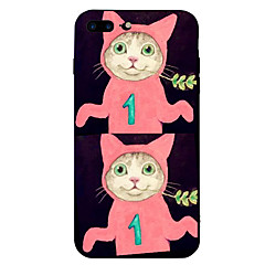 Назначение iPhone 7 iPhone 7 Plus Чехлы панели Защита от удара С узором Задняя крышка Кейс для Кот Животное Мультипликация Мягкий Силикон