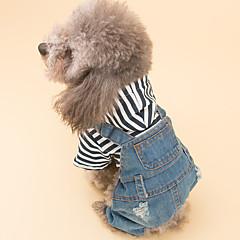 お買い得  犬用ウェア&アクセサリー-犬 ジャンプスーツ 犬用ウェア ジーンズ ブルー デニム コスチューム ペット用 男性用 / 女性用 カジュアル/普段着