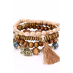 Men's Women's Strand Bracelet Wrap Bracelet Fashion Bohemian Wood Alloy Geometric Jewelry For Evening Party Stage