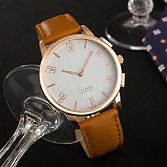 YAZOLE Herrn Modeuhr Armbanduhr Einzigartige kreative Uhr Quartz PU Band Cool Bequem Luxuriös Elegante Minimalistisch Schwarz Braun