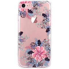 olcso iPhone 5 tokok-Kompatibilitás iPhone X iPhone 8 tokok Átlátszó Minta Hátlap Case Virág Puha Hőre lágyuló poliuretán mert Apple iPhone X iPhone 8 Plus