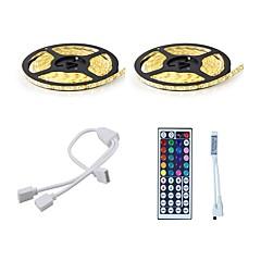 お買い得  LED ストリングライト-ライトセット 600 LED RGB リモートコントロール カット可能 調光可能 防水 変色 ノンテープ・タイプ 接続可 DC 12V