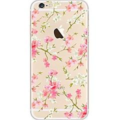 Til iPhone 7 iPhone 7 Plus Etuier Ultratyndt Transparent Mønster Bagcover Etui Blomst Blødt TPU for Apple iPhone 7 Plus iPhone 7 iPhone