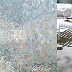 abordables Tratamientos Para Ventanas-Geométrico Adhesivo para Ventana, PVC/Vinilo Material decoración de la ventana Salón Baño Shop / Cafe Cocina