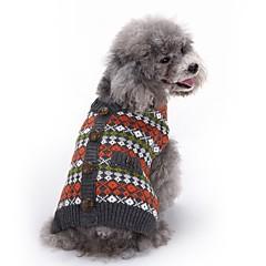 Kat Hond Jassen Truien Hondenkleding Feest Cosplay Casual/Dagelijks Houd Warm Bruiloft Kerstmis Nieuwjaar Geruit Rood