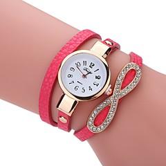 preiswerte Damenuhren-Damen Modeuhr Armband-Uhr Simulierter Diamant Uhr Quartz PU Band Analog Freizeit Elegant Schwarz / Weiß / Blau - Blau Rosa Hellblau