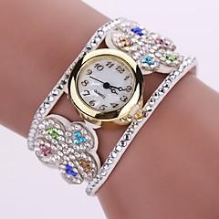 preiswerte Damenuhren-Damen Armband-Uhr Simulierter Diamant Uhr Quartz Imitation Diamant PU Band Analog Charme Freizeit Böhmische Schwarz / Weiß / Blau - Blau Rosa Hellblau