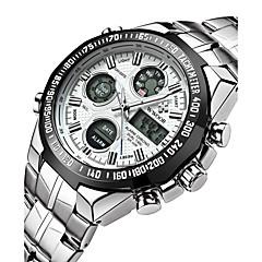 preiswerte Tolle Angebote auf Uhren-Herrn Digitaluhr Japanisch Alarm / Kalender / Wasserdicht Edelstahl Band Charme / Luxus / Retro Silber