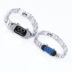 preiswerte Armbänder-Paar Ketten- & Glieder-Armbänder - Titanstahl Herz Modisch, Elegant Armbänder Silber Für Ausgehen / Valentinstag