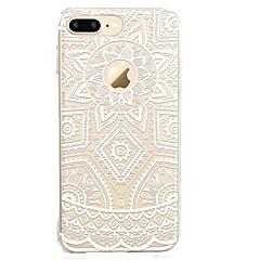 billige iPhone-etuier-Til iPhone X iPhone 8 Etuier Transparent Mønster Bagcover Etui Blonde Tryk Blødt TPU for Apple iPhone X iPhone 8 Plus iPhone 8 iPhone 7
