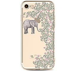 Назначение iPhone X iPhone 8 Чехлы панели Прозрачный С узором Задняя крышка Кейс для Слон Цветы Мягкий Термопластик для Apple iPhone X