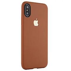 Kompatibilitás iPhone X iPhone 8 iPhone 8 Plus tokok Ütésálló Jeges Hátlap Case Tömör szín Puha Hőre lágyuló poliuretán mert Apple iPhone