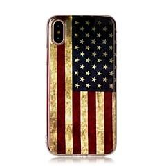 Kompatibilitás iPhone X iPhone 8 iPhone 8 Plus tokok Ultra-vékeny Minta Hátlap Case Zászló Puha Hőre lágyuló poliuretán mert Apple iPhone