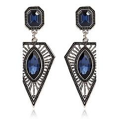 Dame Dråbeøreringe imiteret safir Mode Personaliseret Zirkonium Legering Geometrisk form Smykker Til Fest Stadie