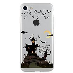 billige Appletilbehør Ukentlige Tilbud-Til iPhone 7 iPhone 7 Plus Etuier Covere Gjennomsiktig Mønster Bakdeksel Etui Halloween Myk TPU til Apple iPhone 7 Plus iPhone 7 iPhone