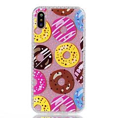 Назначение iPhone X iPhone 8 Чехлы панели С узором Задняя крышка Кейс для Продукты питания Сияние и блеск Твердый Акриловое волокно для
