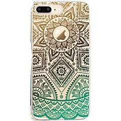 Voor iPhone X iPhone 8 Hoesje cover Patroon Achterkantje hoesje Lace Printing Zacht TPU voor Apple iPhone X iPhone 7s Plus iPhone 8