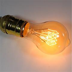 お買い得  LED&照明機器-1個 40W E26/E27 A60(A19) 温白色 2200-2700 K レトロ風 調光可能 装飾用 白熱ビンテージエジソン電球 220-240V