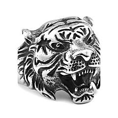 abordables Joyería para Hombre-Hombre Acero inoxidable - Animal Vintage / Moda Dorado / Negro / Plata anillo Para Diario / Casual / Hombre / Acero inoxidable