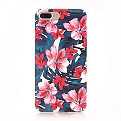 Недорогие Кейсы для iPhone-Кейс для Назначение Apple iPhone X iPhone 8 Матовое С узором Кейс на заднюю панель Цветы Твердый ПК для iPhone X iPhone 8 Pluss iPhone 8