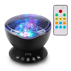 preiswerte Ausgefallene LED-Beleuchtung-1pc ferngesteuerte led-star-licht-projektor remote version ozean projektor einfügen tf-karte stern projektor usb 7 farblicht modus projektor wireless