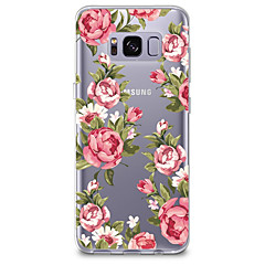billige Galaxy S4 Mini Etuier-Etui Til Transparent Mønster Bagcover Blomst Blødt TPU for S8 S8 Plus S7 edge S7 S6 edge plus S6 edge S6 S6 Active S5 Mini S5 Active S5