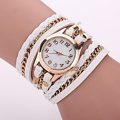 Damskie Modny Zegarek na bransoletce Na codzień Chiński Kwarcowy PU Pasmo Artystyczny Na co dzień Elegancki Czarny Biały Niebieski