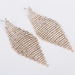 preiswerte Ohrringe-Damen Kubikzirkonia Tropfen-Ohrringe - Strass Gold / Silber Für Hochzeit Party
