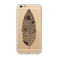 Недорогие Кейсы для iPhone 4s / 4-Кейс для Назначение Apple iPhone X iPhone 8 Прозрачный С узором Кейс на заднюю панель  Перья Мягкий ТПУ для iPhone X iPhone 8 Pluss
