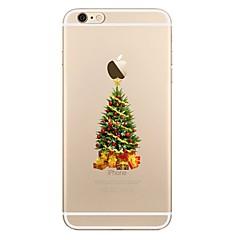 Недорогие Кейсы для iPhone X-Кейс для Назначение Apple iPhone X iPhone 8 iPhone 8 Plus Прозрачный С узором Кейс на заднюю панель Рождество дерево Мягкий ТПУ для