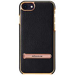 Недорогие Кейсы для iPhone 6-Кейс для Назначение Apple iPhone 8 iPhone 7 со стендом Кейс на заднюю панель Сплошной цвет Твердый Настоящая кожа для iPhone 8 Pluss