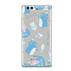 Недорогие Чехлы и кейсы для Huawei Mate-Кейс для Назначение Huawei P9 Huawei P9 Lite Huawei P8 Huawei P9 Plus Huawei P8 Lite Huawei Mate 8 Прозрачный С узором Кейс на заднюю