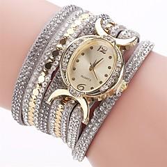 preiswerte Damenuhren-Damen Armband-Uhr / Simulierter Diamant Uhr Chinesisch Imitation Diamant PU Band Charme / Freizeit / Modisch Schwarz / Blau / Rot