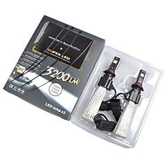 abordables Faros de Coche-2pcs 9005 Coche Bombillas LED Integrado 6400 lm Luz de Casco Para